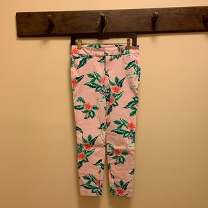 Old Navy tropical floral Pixie ankle pants